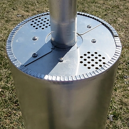 Adjustable Round Pole Guard for Purple Martin Racks