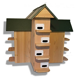 Troyer T-14 CEDAR Purple Martin House With Poly Roof
