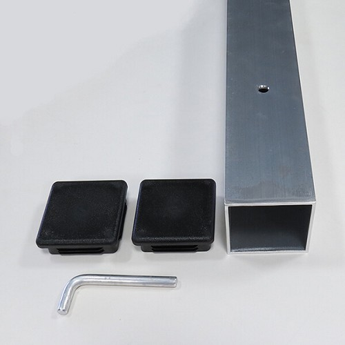 Ground Sleeve for Aluminum Ground Stakes with 3-inch Square Poles