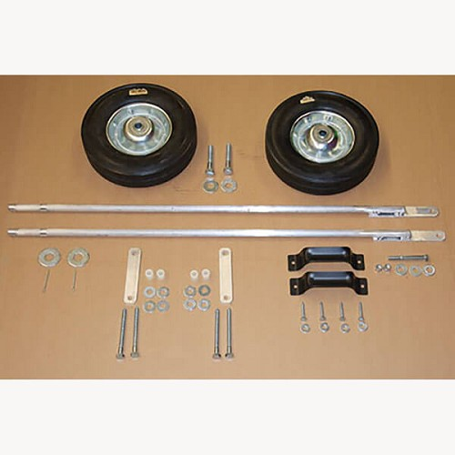Wheel and Axle Kit, All Parts shown