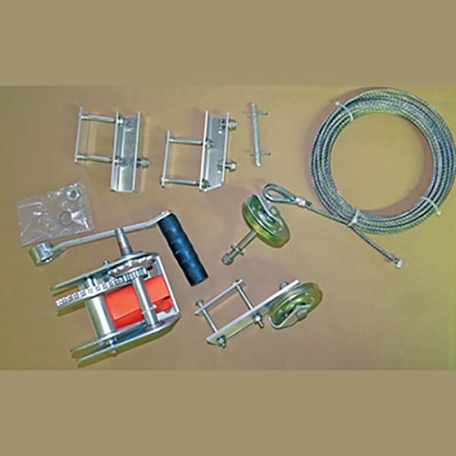 Winch Conversion Kit for Deluxe and Super-Deluxe Gourd Rack Shown with Brake Winch